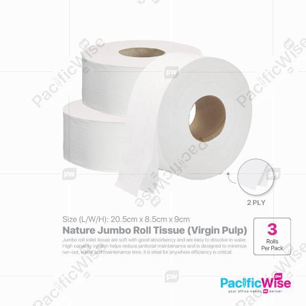 Nature Jumbo Roll Tissue (JRT) Virgin Pulp (3'S/PKT)