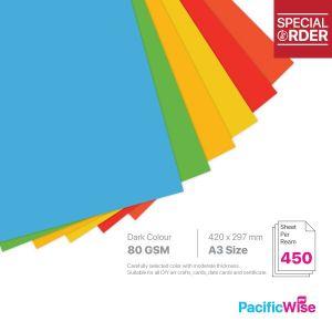 A3 Colour Paper 80GSM Deep Colour (450'S)
