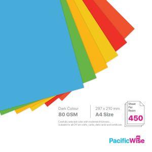 A4 Colour Paper 80GSM Deep Colour (450'S)