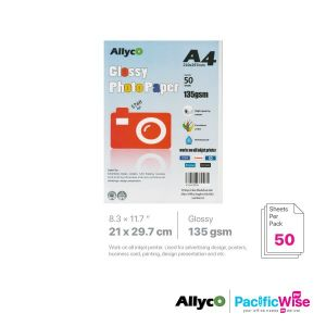 Allyco A4 Photo Paper Glossy 135GSM (50'S)