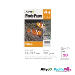 Allyco A4 Photo Paper Glossy 260GSM (20'S)