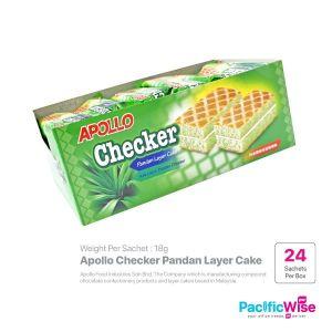 Apollo Checker Pandan Layer Cake (18g x 24sachets)