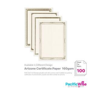 Artzone Certificate Paper W/O Common Seal 160GSM (100'S)