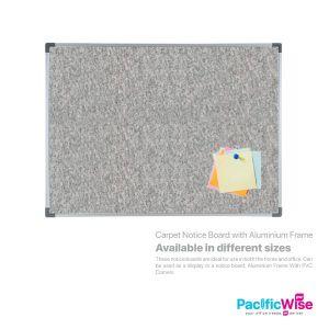 Carpet Notice Board with Aluminium Frame