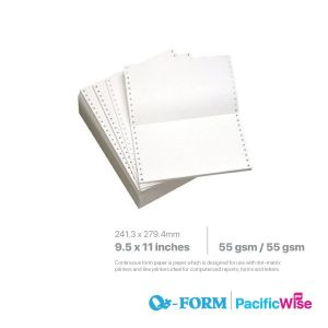 """Computer Form 2 Ply 2 Up 9.5"""" x 11"""""""