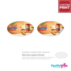 Customized Printing Die Cut Label (Oval)