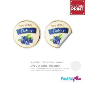 Customized Printing Die Cut Label (Round)
