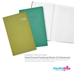 Hard Cover Foolscap Book (3 Columns)