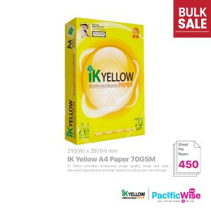 Indah Kiat IK Yellow A4 Paper 70GSM (450'S)