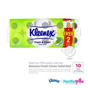 Kleenex Fresh Clean Toilet Roll (8+2 Rolls)