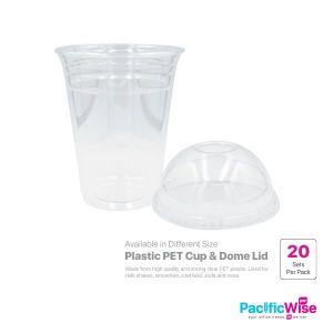 Plastic PET Cup & Dome Lid (20set)