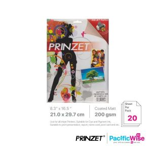 Prinzet A4 Photo Paper Double Side Coated Matt 200GSM (20'S)
