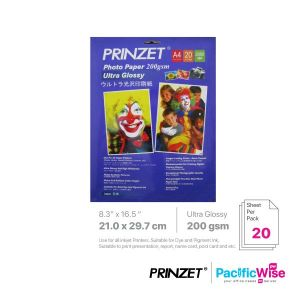 Prinzet A4 Photo Paper Ultra Glossy 200GSM (20'S)