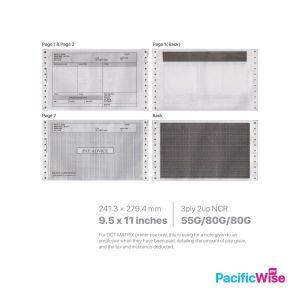 "Ready Made Design2 Payslip Mailer 2 Up 9.5"" x 11"""