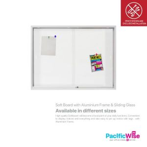 Soft Board with Aluminium Frame & Sliding Glass