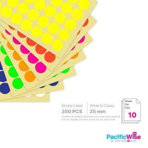 Round Sticker Label 25mm