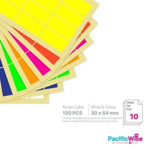 Rectangle Sticker Label 30mm x 64mm