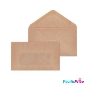 Brown Manila Envelope (Window) 6'' X 3 1/2''