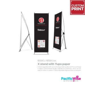 X stand with Yupo paper