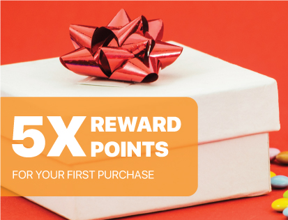 5X Reward Points for First Purchase