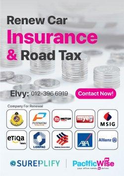 Renew Car Insurance & Road Tax